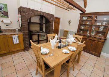 View of kitchen towards lounge doorway