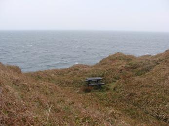 Picnic bench overlooking Scapa Flow