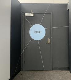 Planetarium exit