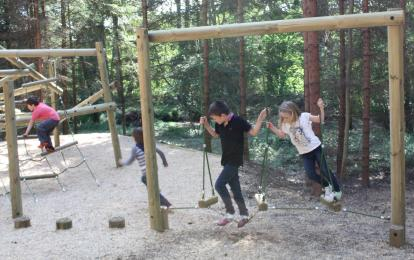 Children playing  in the playground