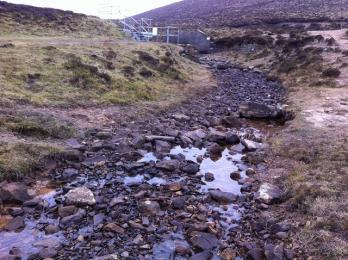 Post Road path  stream crossing at Sandy Loch