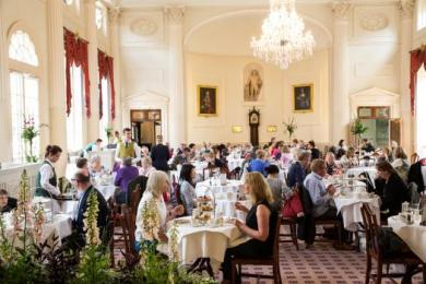 Visitors dining in the Pump Room Restaurant