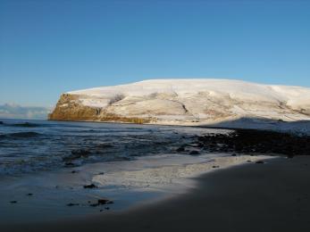 Rackwick beach in winter