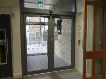 Entrance doors from inside (closed)