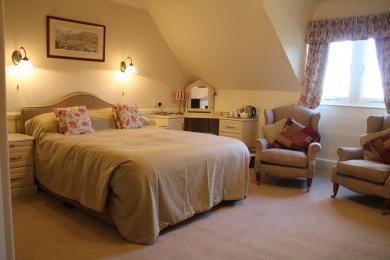 Image of one of the front double rooms
