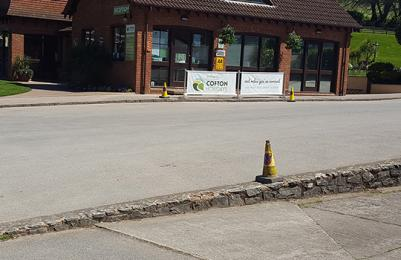 Cofton Holidays Route from accessible parking spaces to reception building