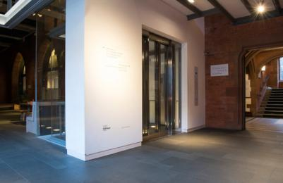 Scottish National Portrait Gallery - lift exterior