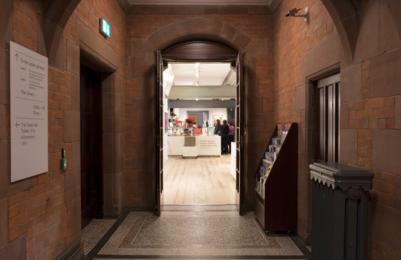 Scottish National Portrait Gallery - Cafe Portrait entrance from Great Hall