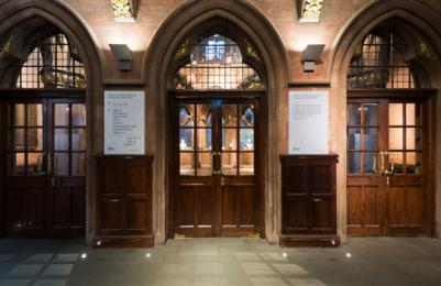Scottish National Portrait Gallery - doors to Great Hall viewed from main entrance