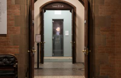 Scottish National Portrait Gallery - entrance to ground floor toilets, including accessible toilet