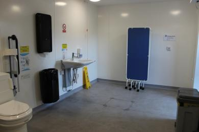 Inside Changing Places toilet facility