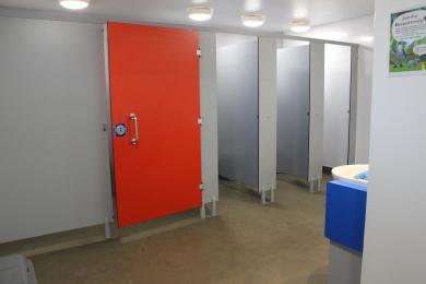 Inside snow leopard toilets