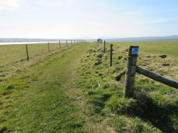 Southern entrance to Brodgar nature reserve footpath