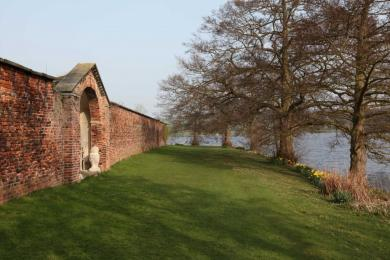 The path around the outside of the walled garden.
