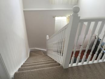 Staircase from upstairs landing