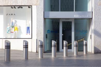The pedestrian entrance to Rotunda