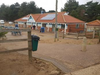 Photo showing step free access from the Beach Cafe