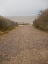 Photo showing step free access to the beach
