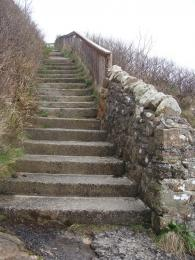 Steps at lower end of Waulkmill Bay Trail South