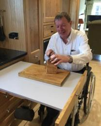 The Dairy, Newbiggin - kitchen pull out accessible work surface