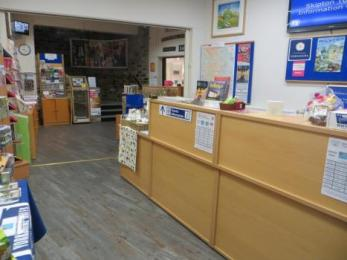 Ticket and information desk in Tourist Information Centre