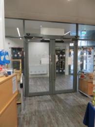 Tourist information Centre main door from inside