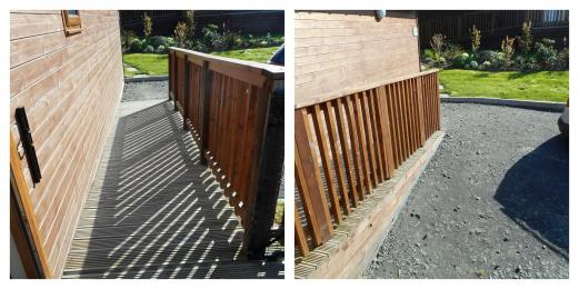 Tawny Lodge Ramp from Parking to Decking