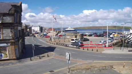 Victoria Pier Carpark & Slipway to right of taxis where tours depart from - has small slope