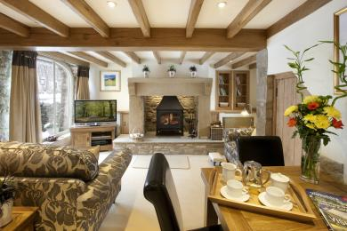 The Byre lounge from Cottage in the Dales in the Yorkshire Dales National Park
