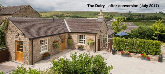 The Dairy - private patio with direct access from the main courtyard area through a gate