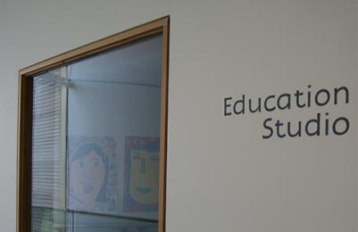 Education Studio window at The Lightbox