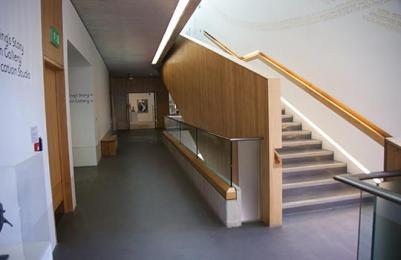 Entrance to the Main Gallery from other end of the corridor at The Lightbox
