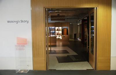 Woking's Story entrance at The Lightbox