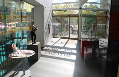 The Lightbox main entrance sliding doors