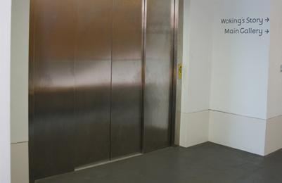 Lift doors at The Lightbox
