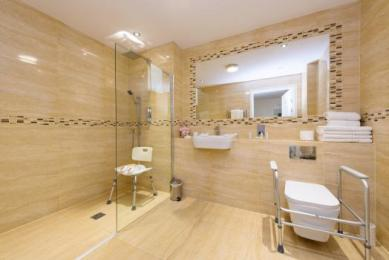 Wet Room Bathroom with Aids