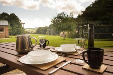 Wheelchair accessible picnic bench with superb countryside views