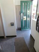 The main door to the toilets only has a 770mm opening