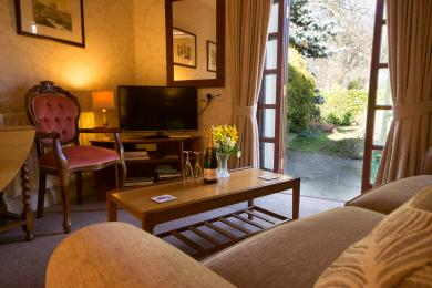 Direct access to the garden from the lounge of the Townhead Garden Suite