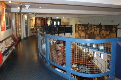 From the upper gallery you can see onto the deck of the lifeboat