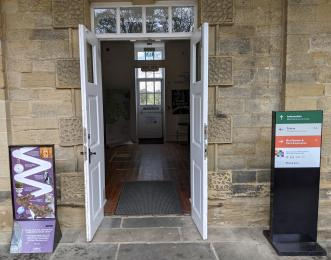 Open doorway to leading into Visitor information.