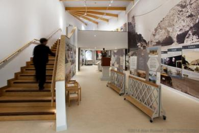 Inside the Visitor Centre
