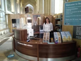 Visitor Experience Staff at Welcome Desk