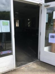 Door to Visitor Centre