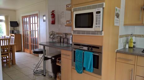 Microwave/oven with Neff sliding door oven under. Both built in