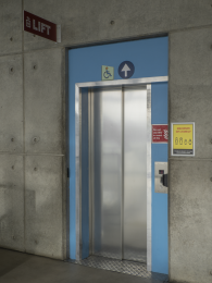 Small lift - access to all floors