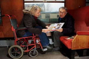 Wheelchair spaces on train