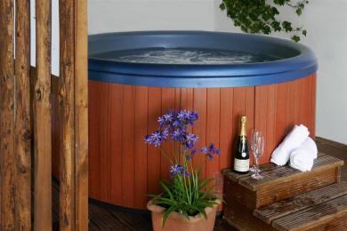 Willow Tree Hot Tub area