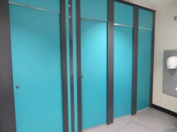Women's toilets cubicles exterior