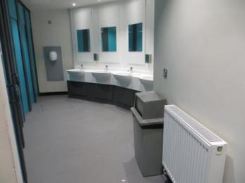 Women's toilets basins and dryer